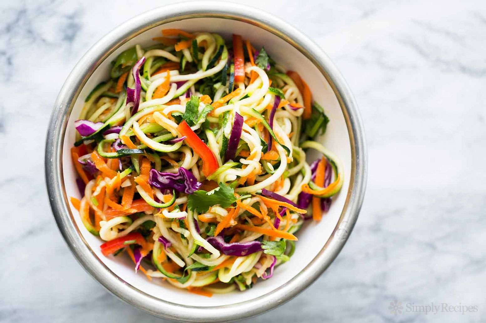 Asian Zucchini Noodle Salad - Salad Recipes With Zucchini Noodles