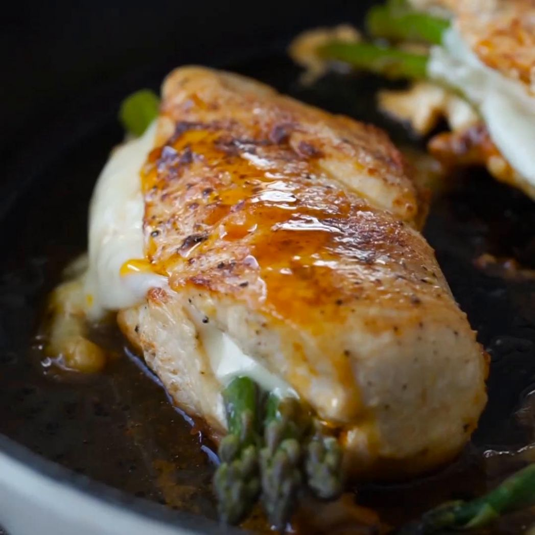 Asparagus Stuffed Chicken Breast Recipe by Tasty - Recipes Chicken Breast And Asparagus