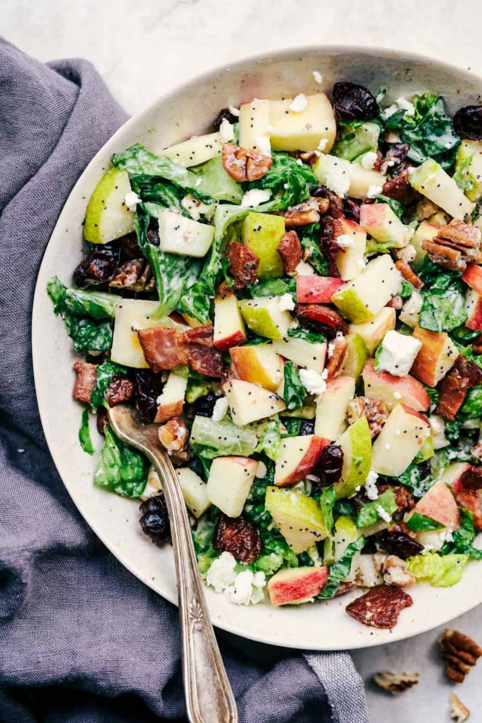 Autumn Chopped Salad with Creamy Poppyseed Dressing