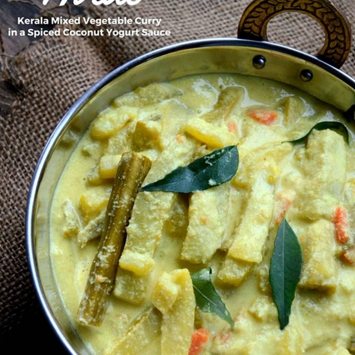 Avial ~ Kerala Mixed Vegetable Curry with Coconut and Yogurt - Vegetable Recipes Kerala