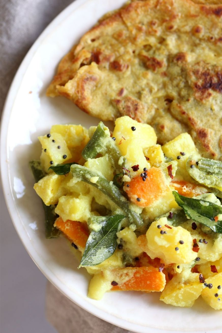Avial - South Indian Veggie Coconut Curry - Dinner Recipes Vegetarian South Indian