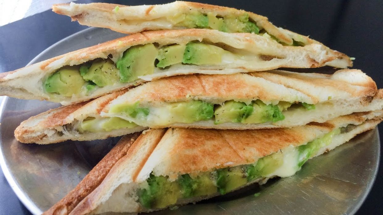 Avocado and Cheese Healthy Breakfast Sandwich Maker Recipes - Recipes Sandwich Maker