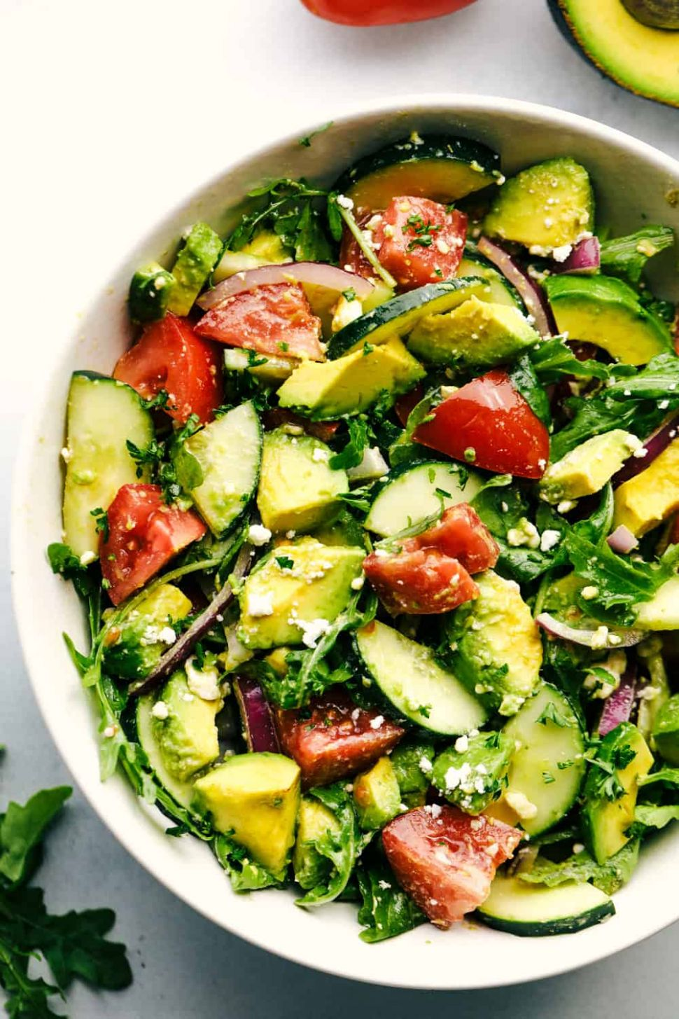 Avocado, Tomato and Cucumber Arugula Salad | The Recipe Critic - Salad Recipes Light