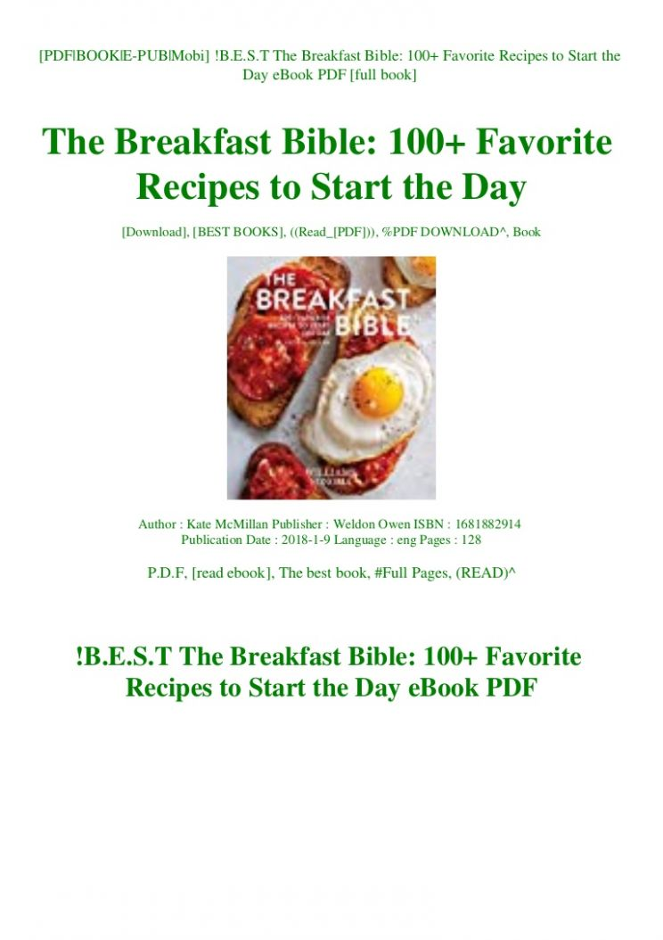 B.E.S.T The Breakfast Bible 12+ Favorite Recipes to Start the Day …