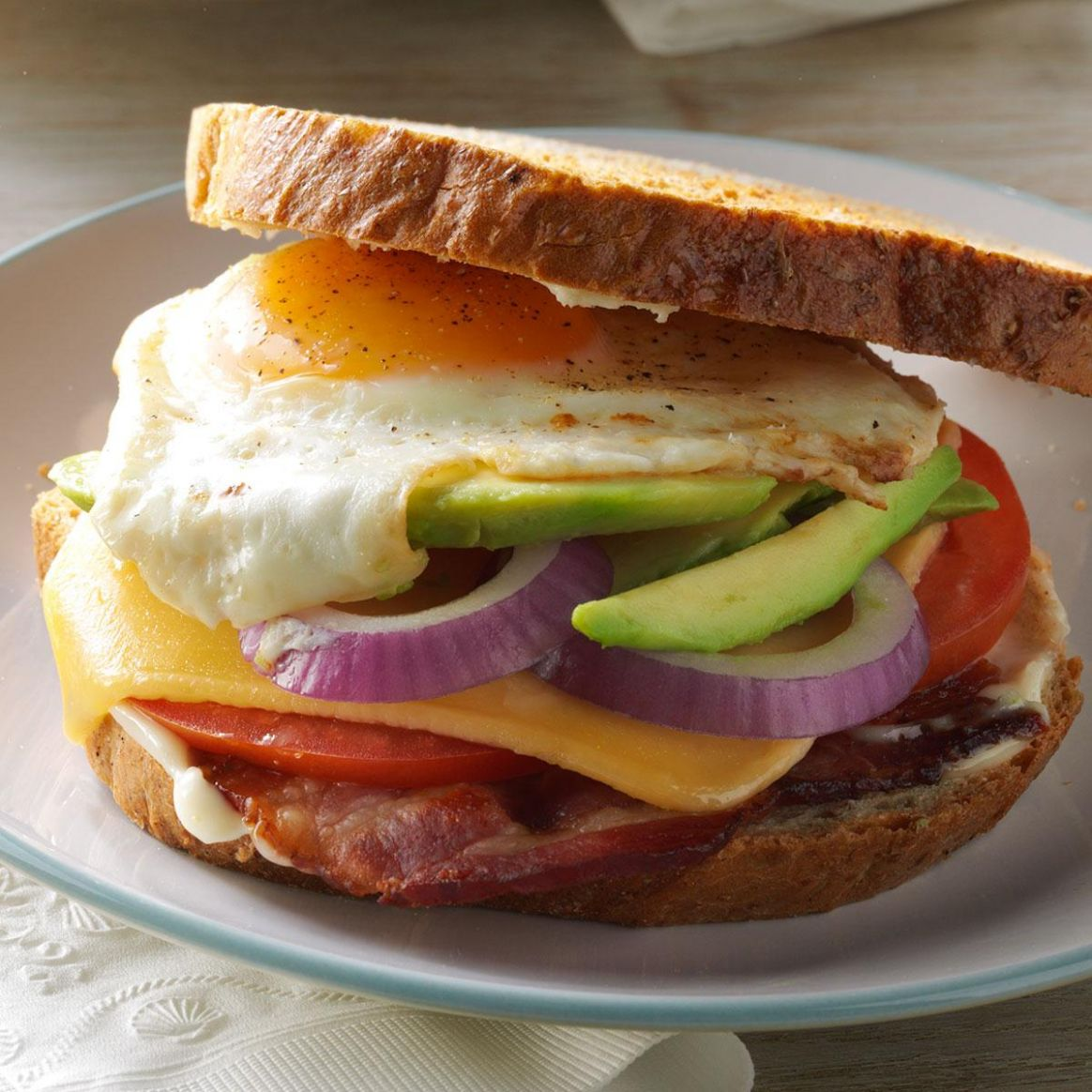 Bacon, Egg & Avocado Sandwiches - Sandwich Recipes Taste Of Home