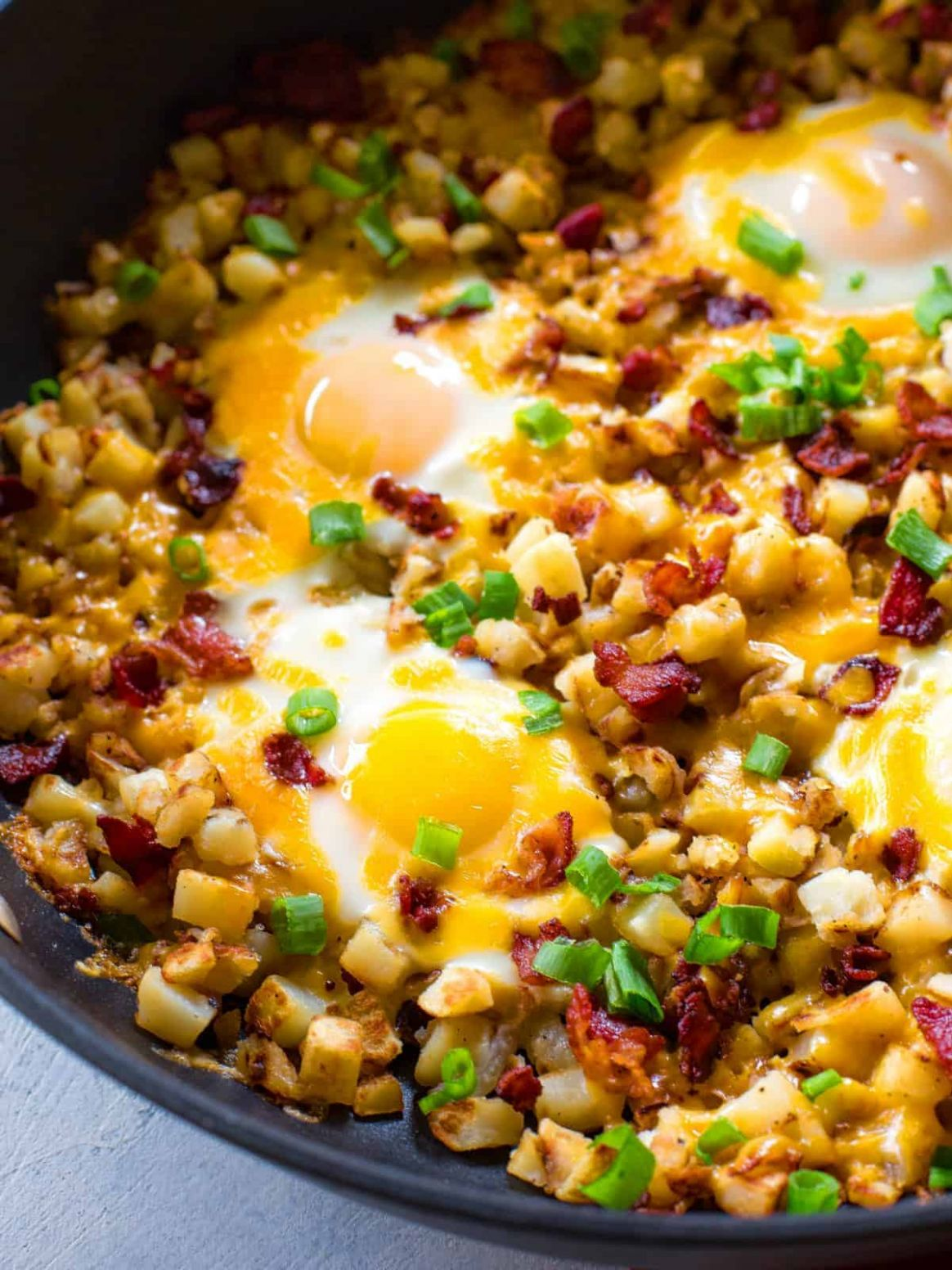 Bacon, Egg, and Potato Breakfast Skillet - The Girl Who Ate Everything