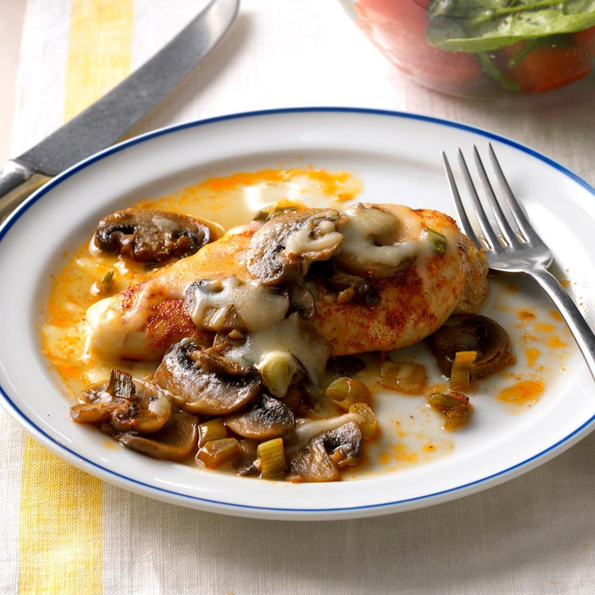 Baked Chicken and Mushrooms - Recipes Chicken Breast Mushrooms