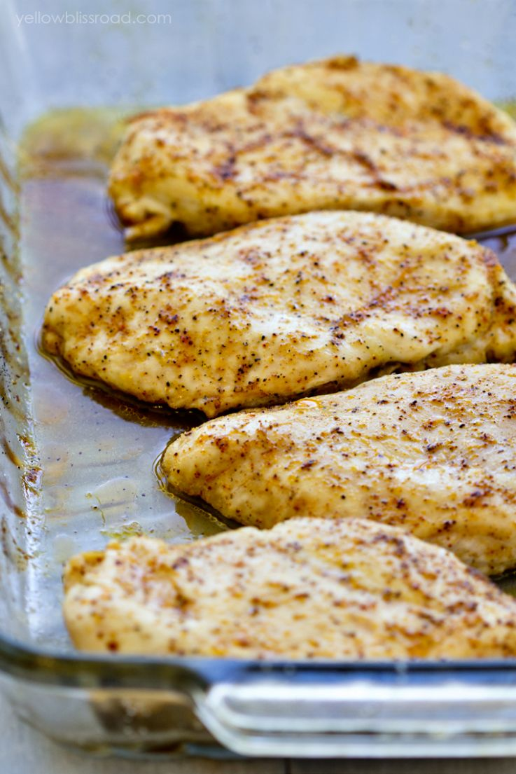 Baked Chicken Breasts (So Tender and Juicy!) | YellowBlissRoad.com