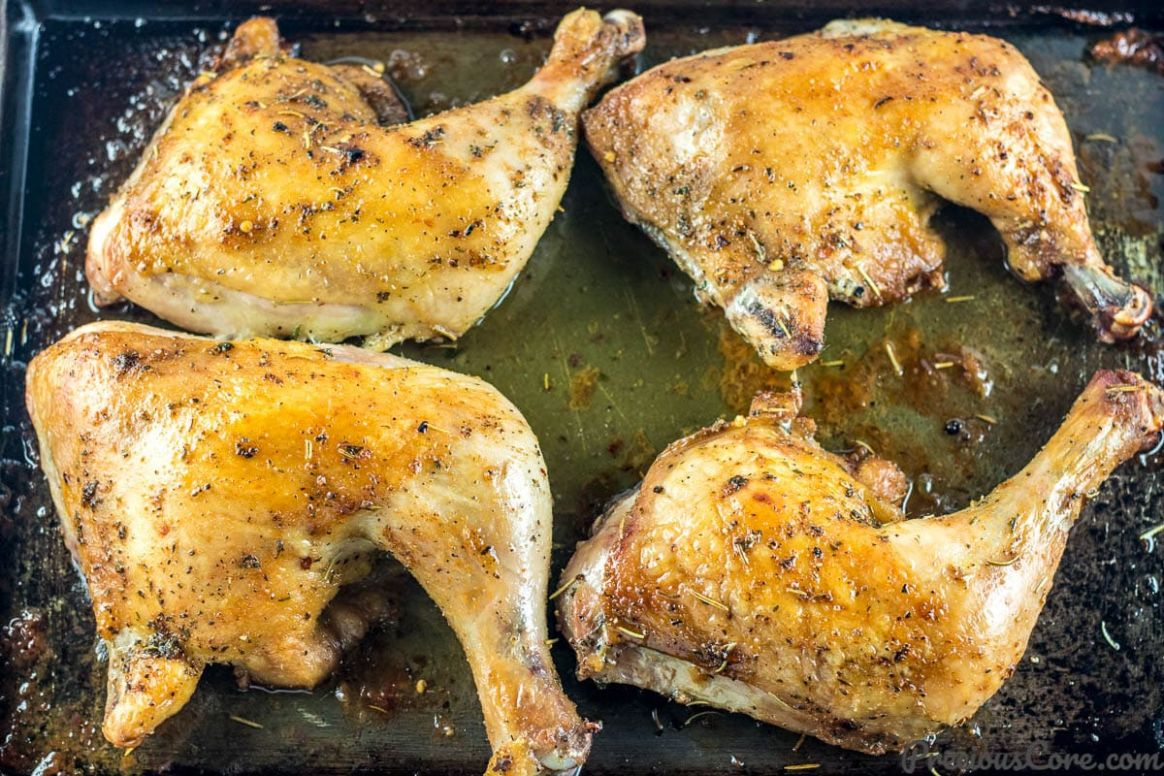 BAKED CHICKEN LEG QUARTERS