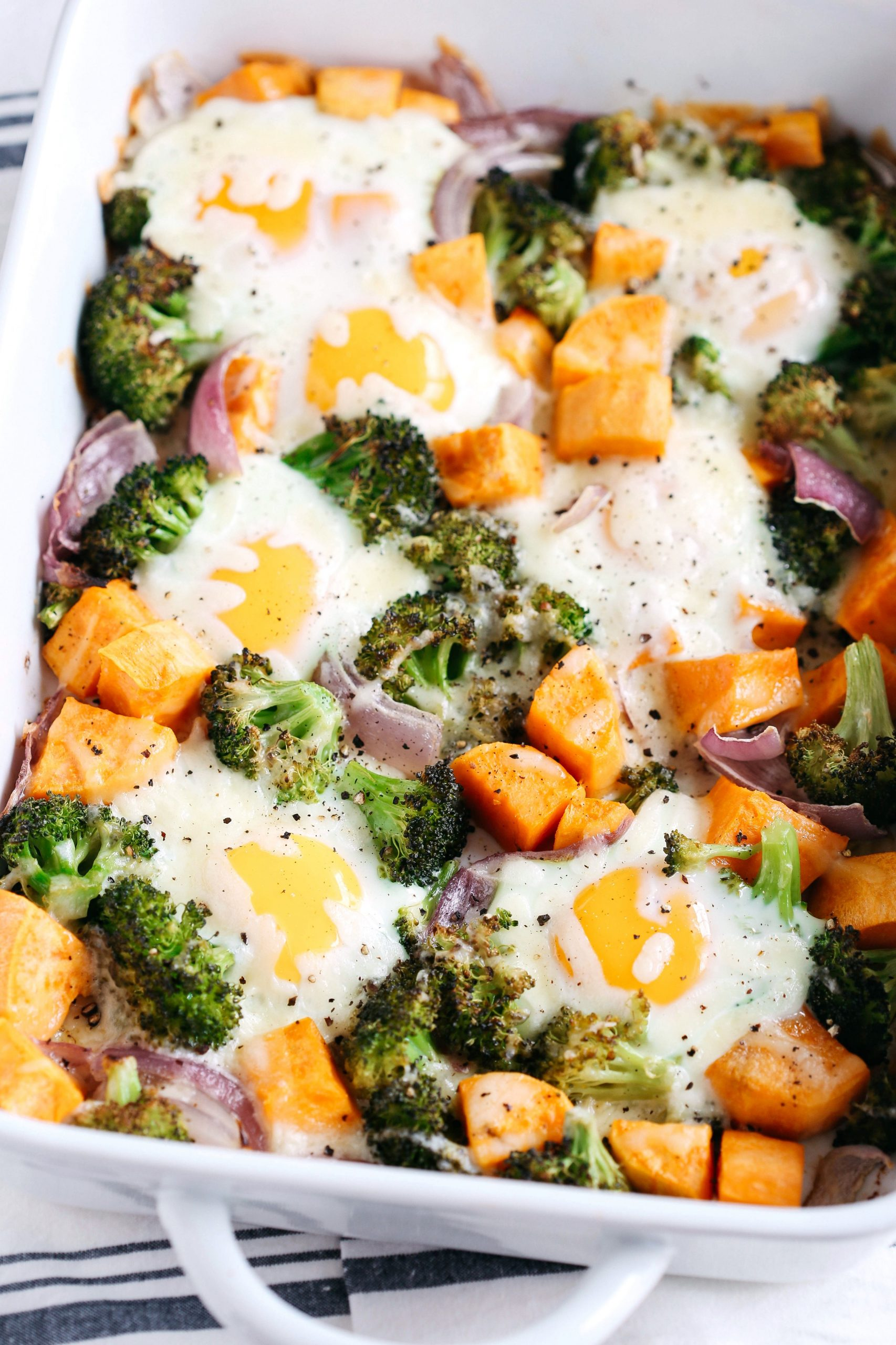 Baked Egg and Roasted Veggie Casserole