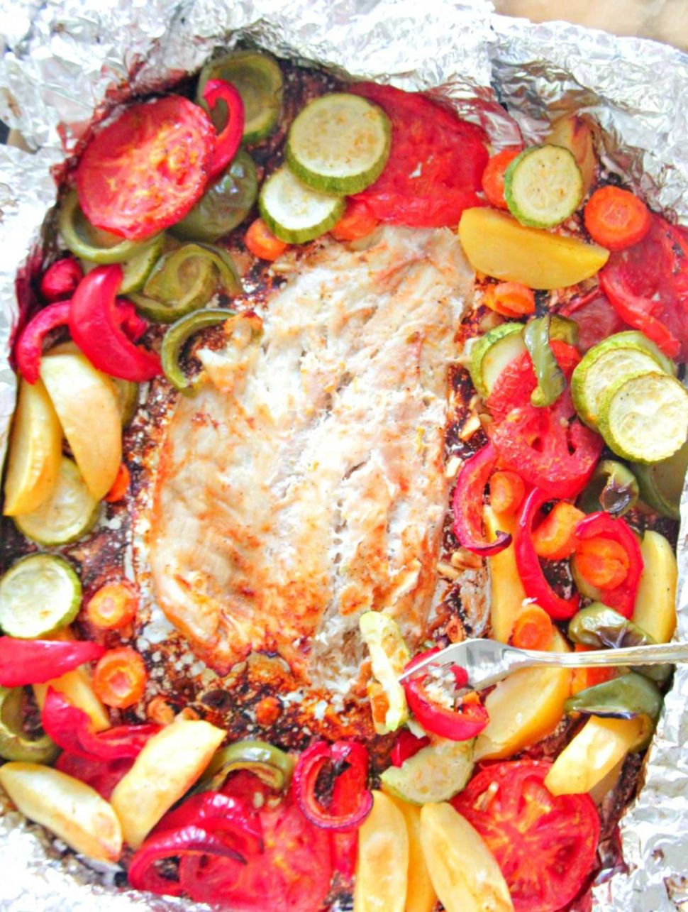 Baked Fish In Foil With Vegetables - Recipes Fish In The Oven