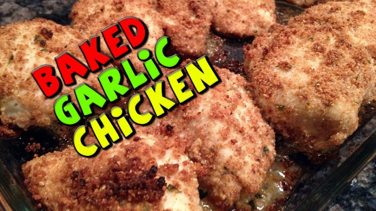Baked Garlic CHICKEN Recipe (Healthy/Bodybuilding) - Healthy Recipes Bodybuilding