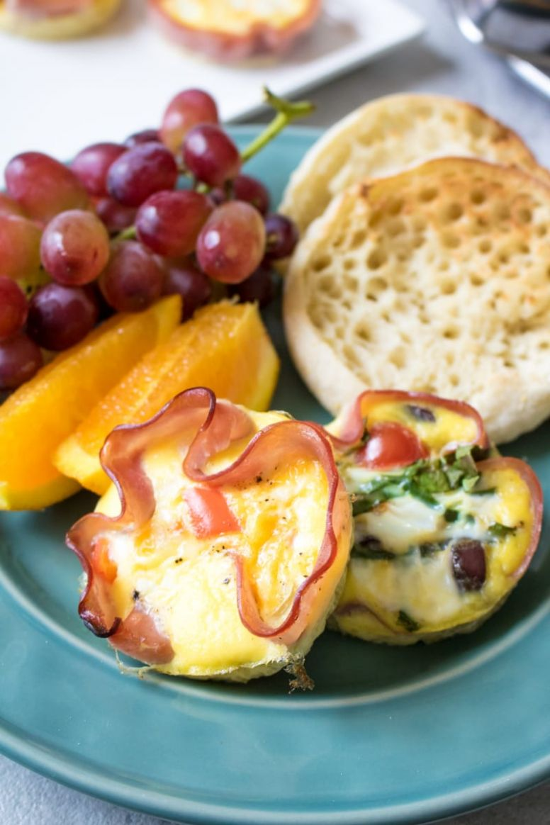 Baked Ham and Egg Breakfast Cups 9 Ways - Recipe Egg Ham Muffin Tin