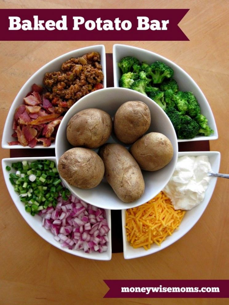 Baked Potato Bar Easy Party Favorite | Baked potato bar, Potato ...