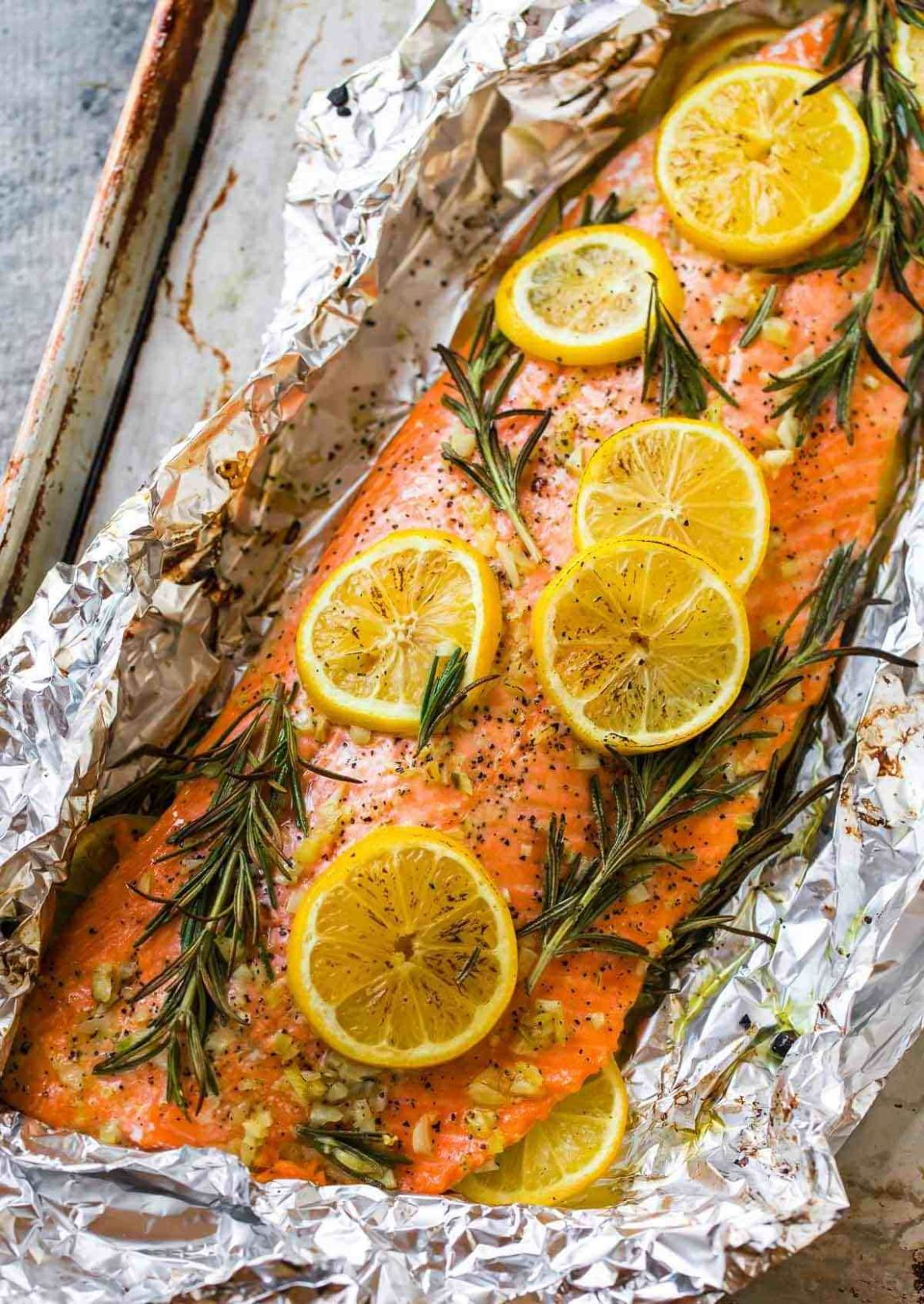 Baked Salmon in Foil - Recipes Fish Salmon