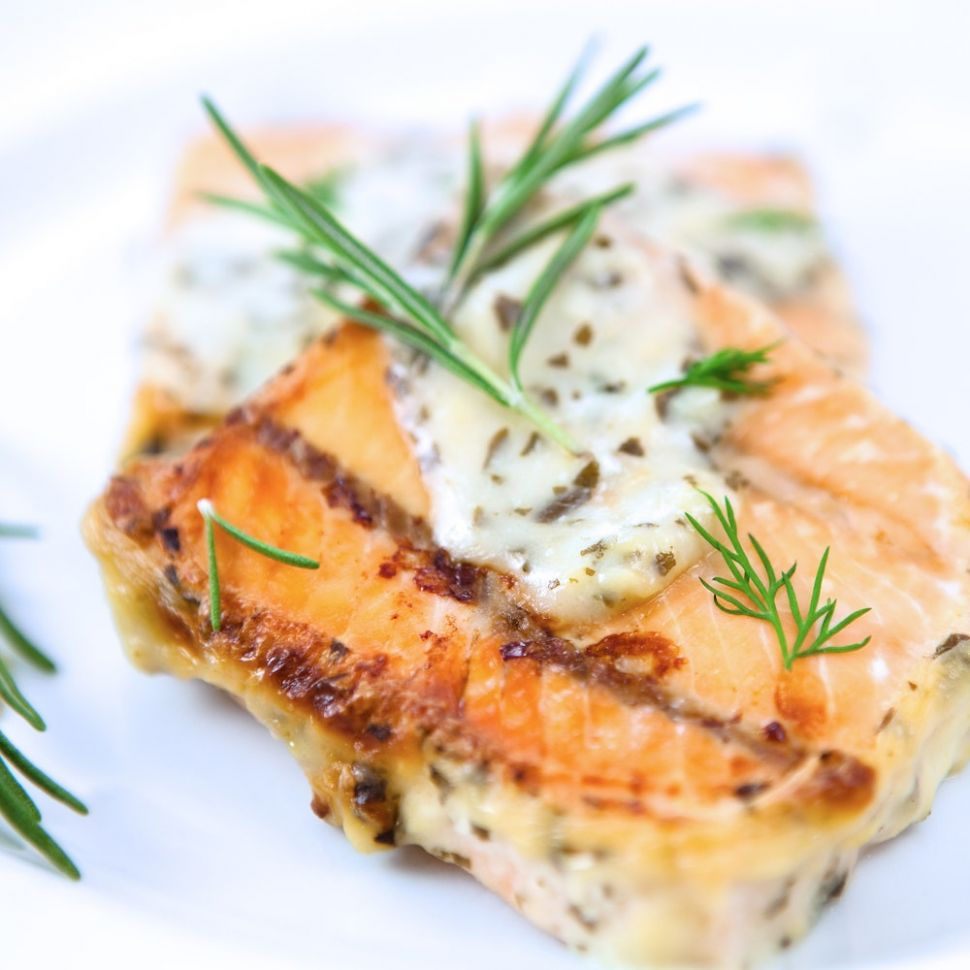 Baked Salmon with Mustard-Dill Sauce - Recipe Fish Dill Sauce