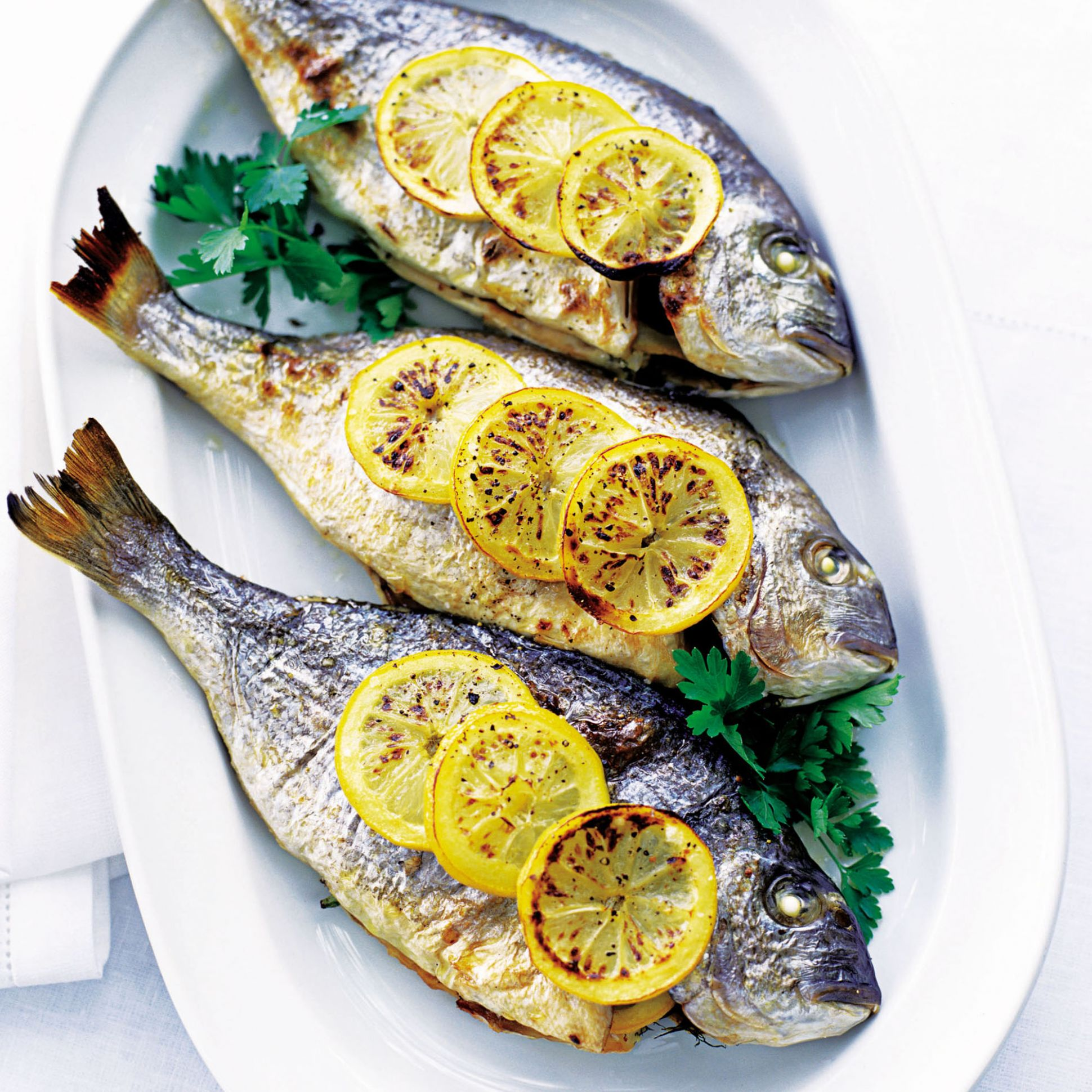 Baked Sea Bream with Lemon and Parsley - Fish Recipes New Zealand