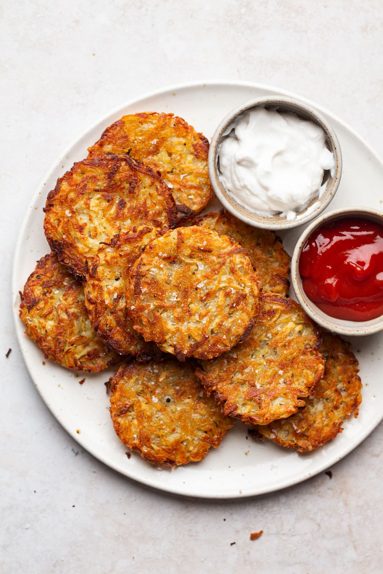 Baked vegan hash browns - Lazy Cat Kitchen