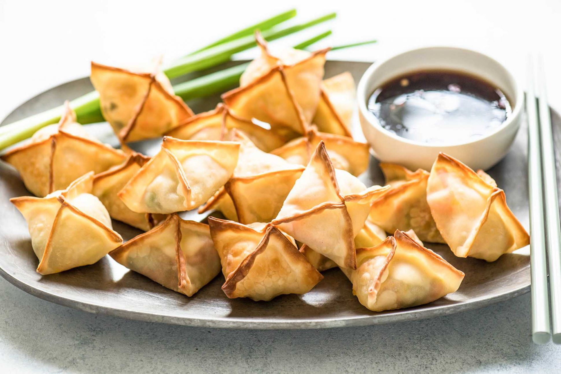 Baked Vegetable and Cream Cheese Wontons