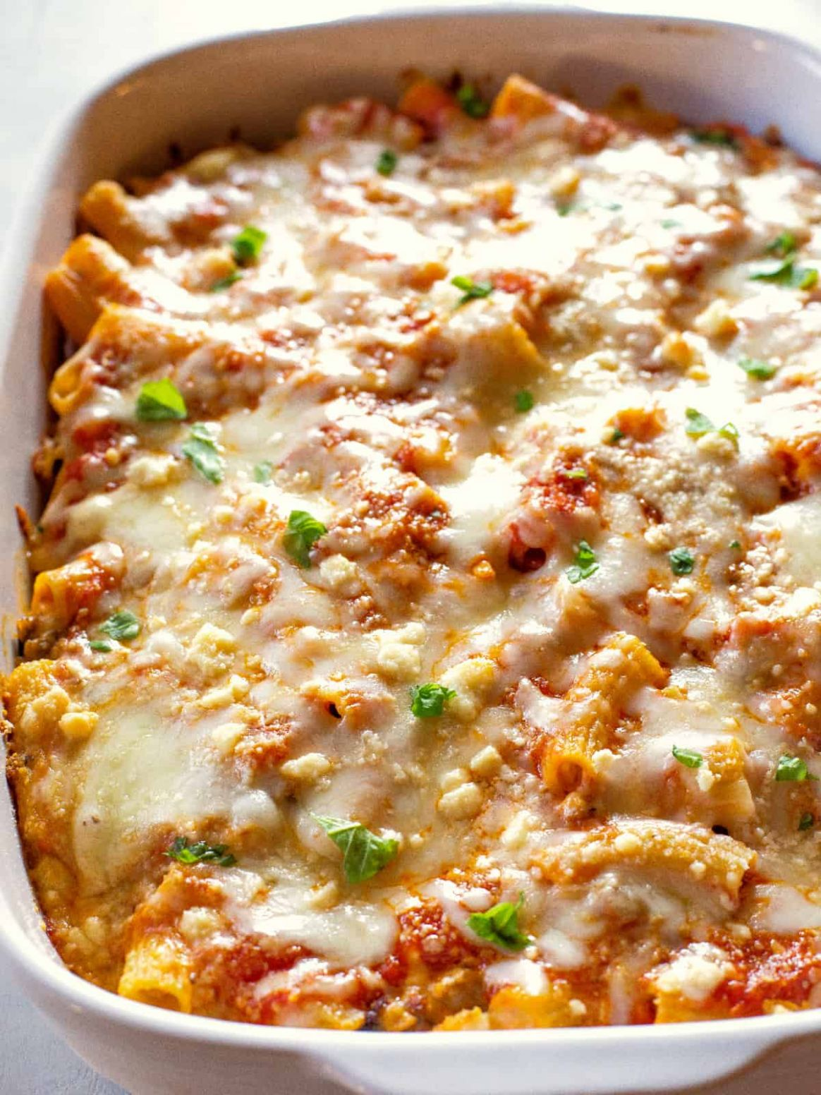 Baked Ziti - Simple Recipes Baked Ziti