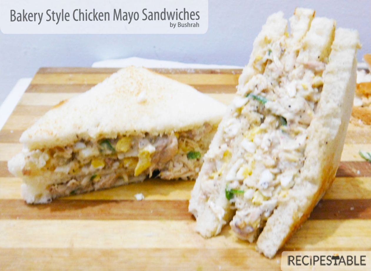 Bakery Style Chicken Mayo Sandwiches Recipe - Recipestable