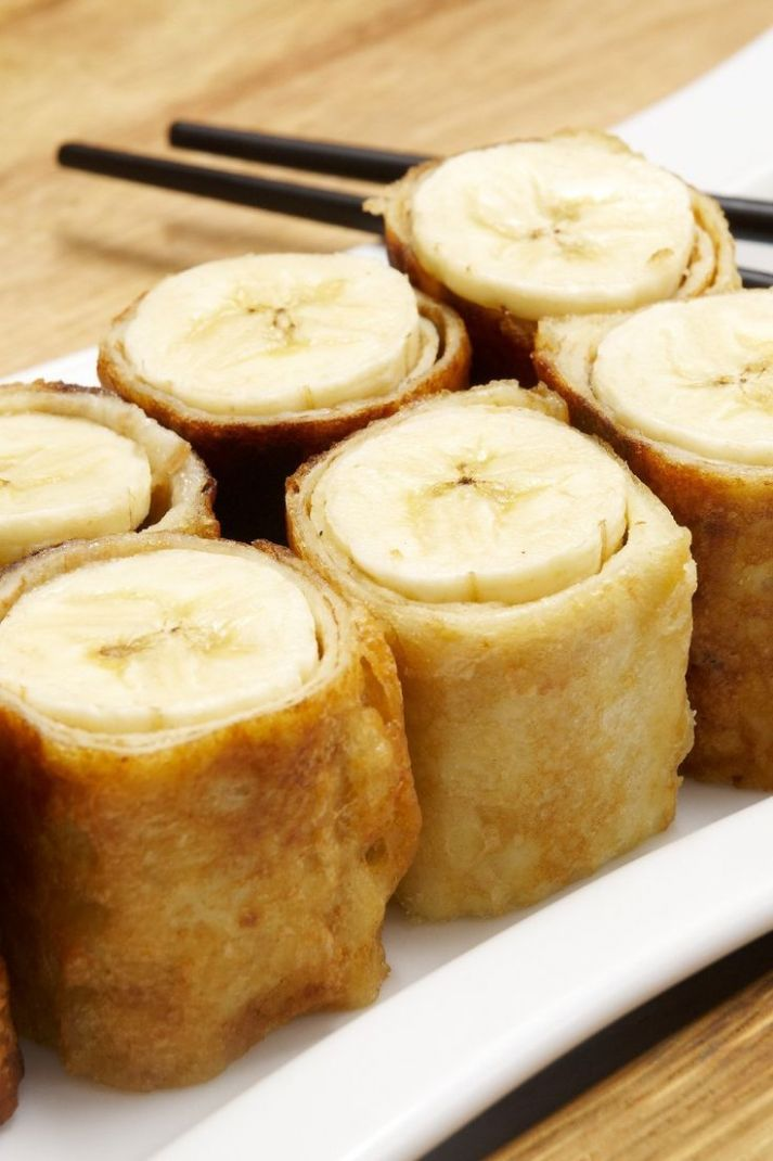 Banana & Brown Sugar Spring Rolls Dessert Recipe Made with Wonton ...