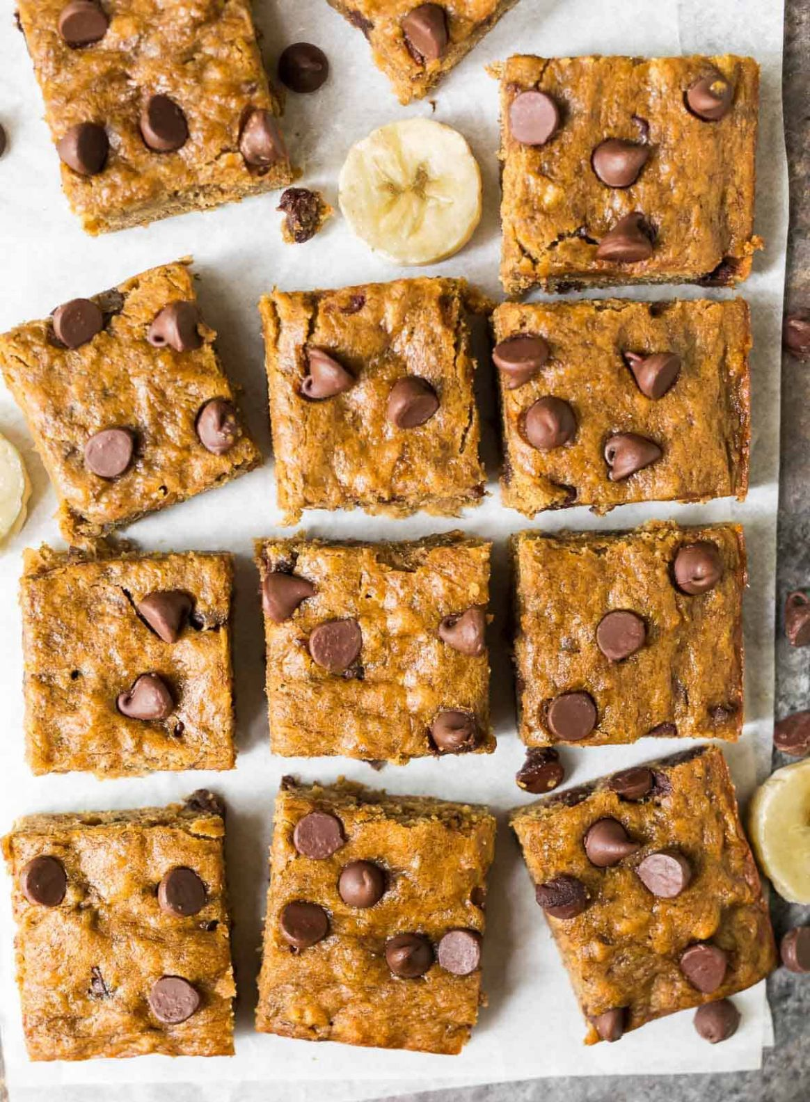 Banana Bars with Chocolate Chips - Simple Recipes Using Bananas