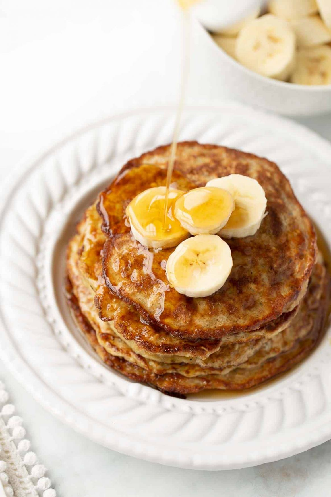 Banana Egg Oat Pancakes - Meaningful Eats - Breakfast Recipes Using Bananas