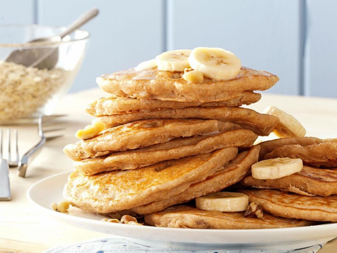 Banana Oatmeal Pancakes - Breakfast Recipes With Bananas