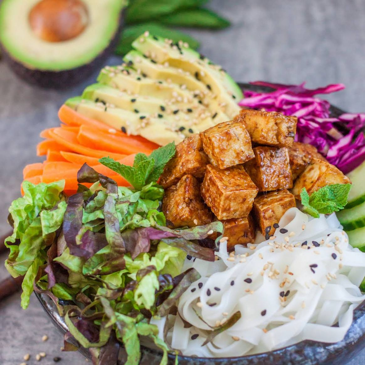 Banh Mi Bowls With Sticky Tofu - Vegan Recipes Vietnamese