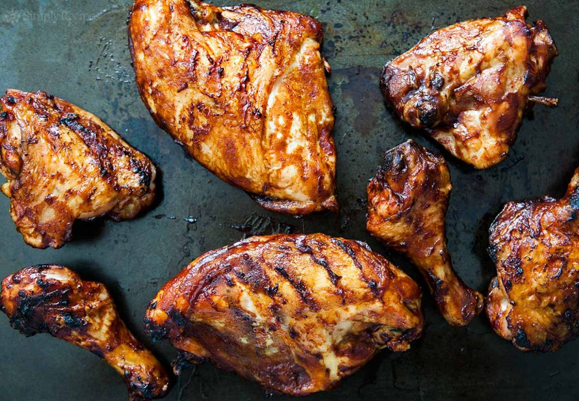 Barbecued Chicken on the Grill - Recipes Chicken Grill