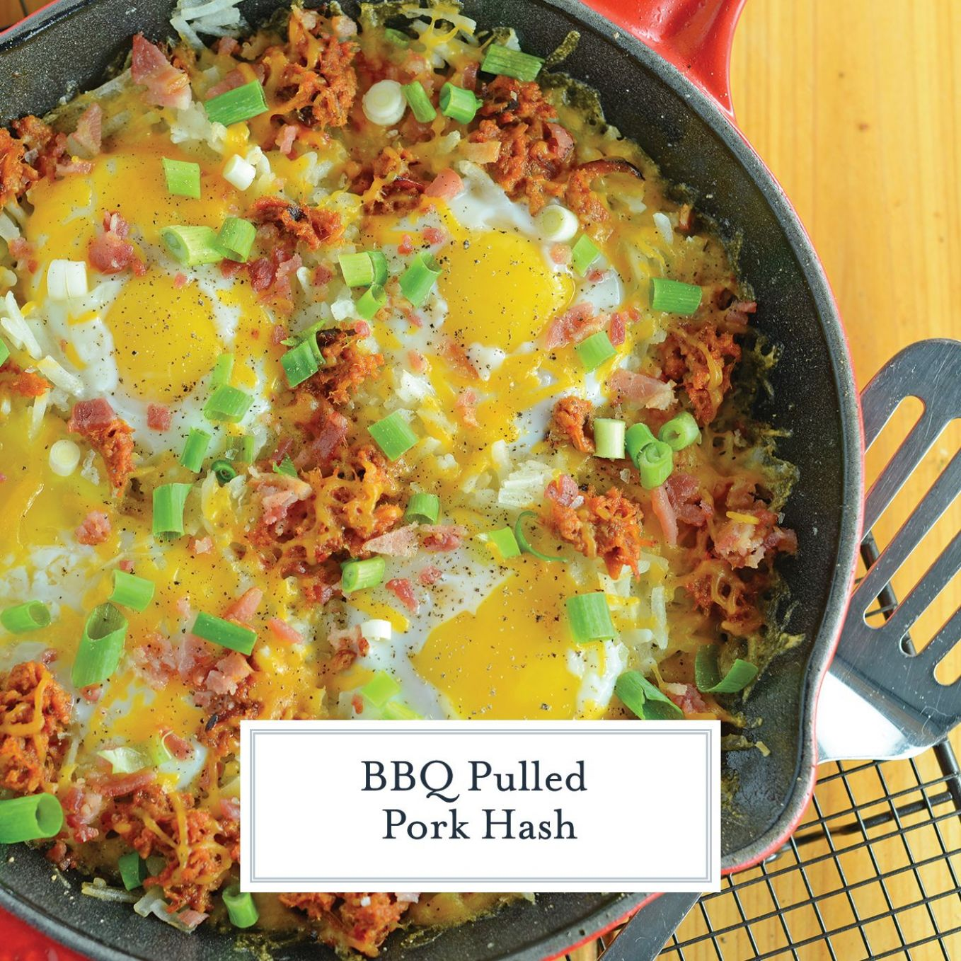 BBQ Pulled Pork Hash is my hands down, favorite Sunday brunch ..