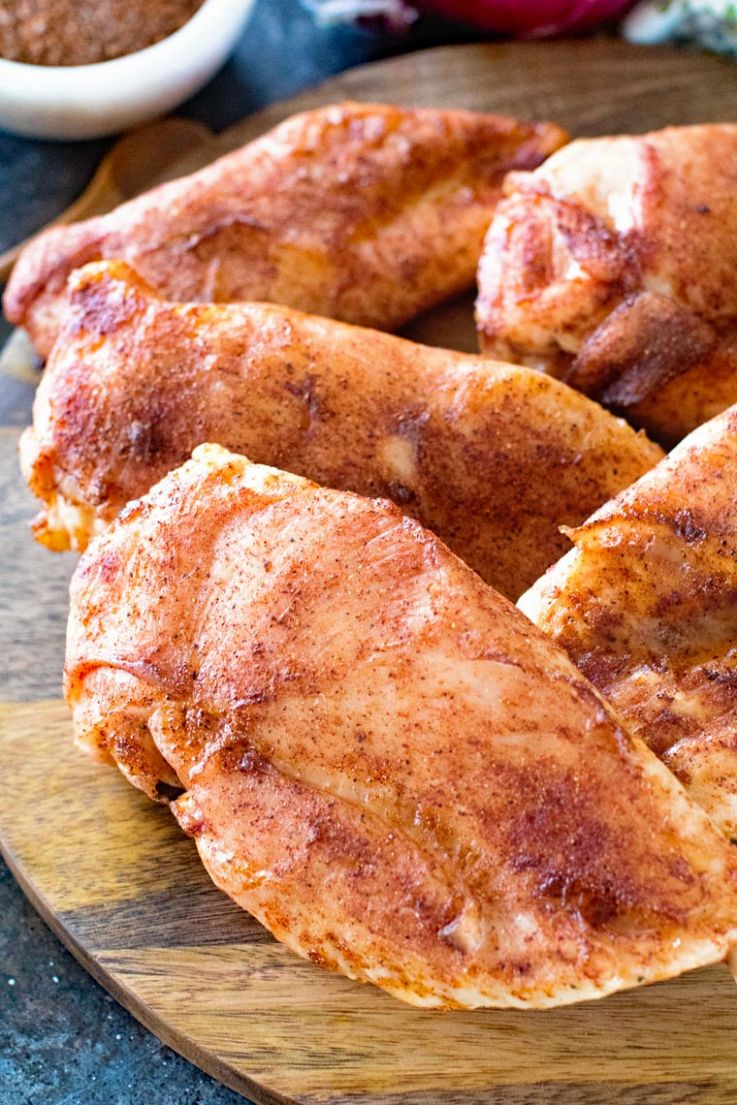 BBQ Smoked Chicken Breasts - Recipe For Chicken Breast Rub
