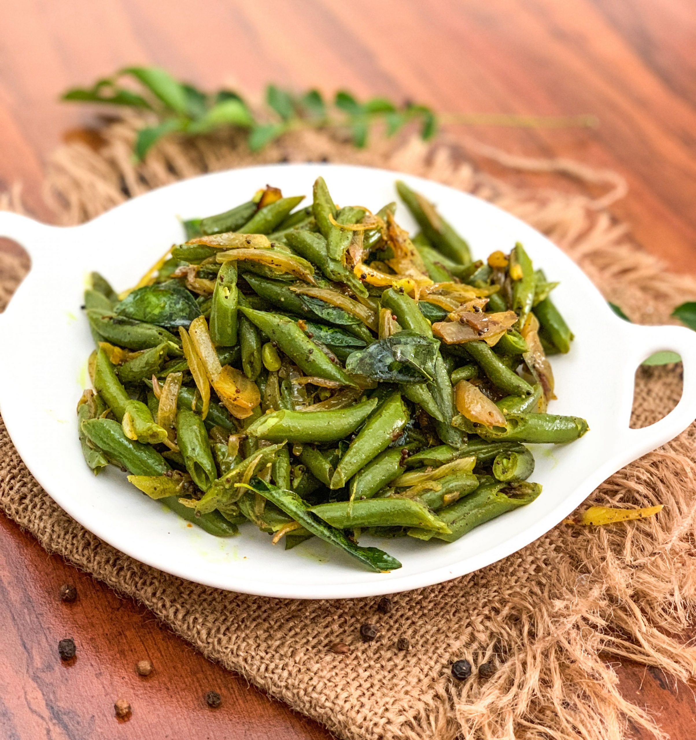 Beans Mezhukkupuratti Recipe - Kerala Style Stir Fried Beans - Vegetable Recipes Kerala