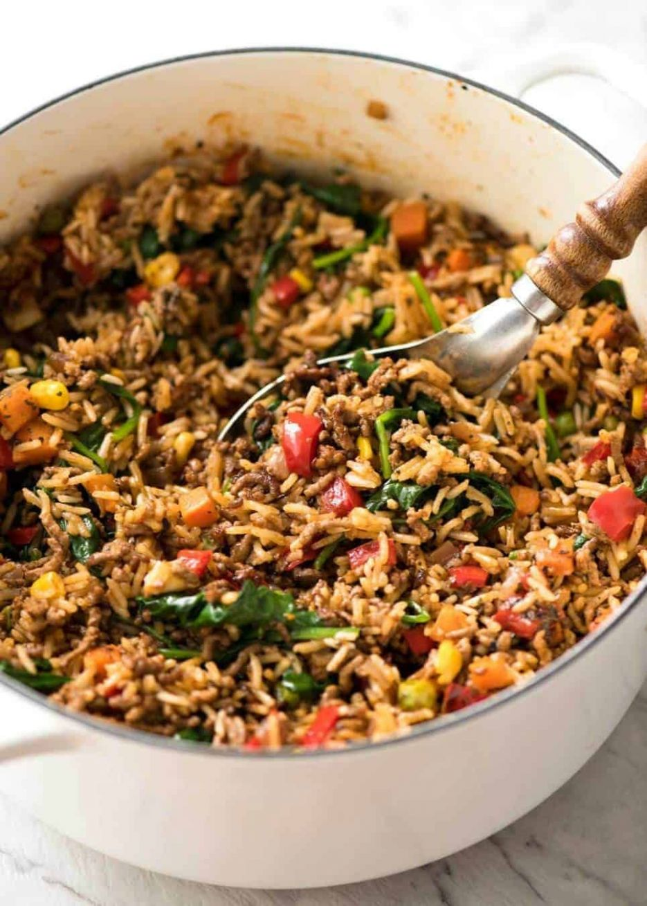 Beef and Rice with Veggies - Diced Beef Recipes Quick
