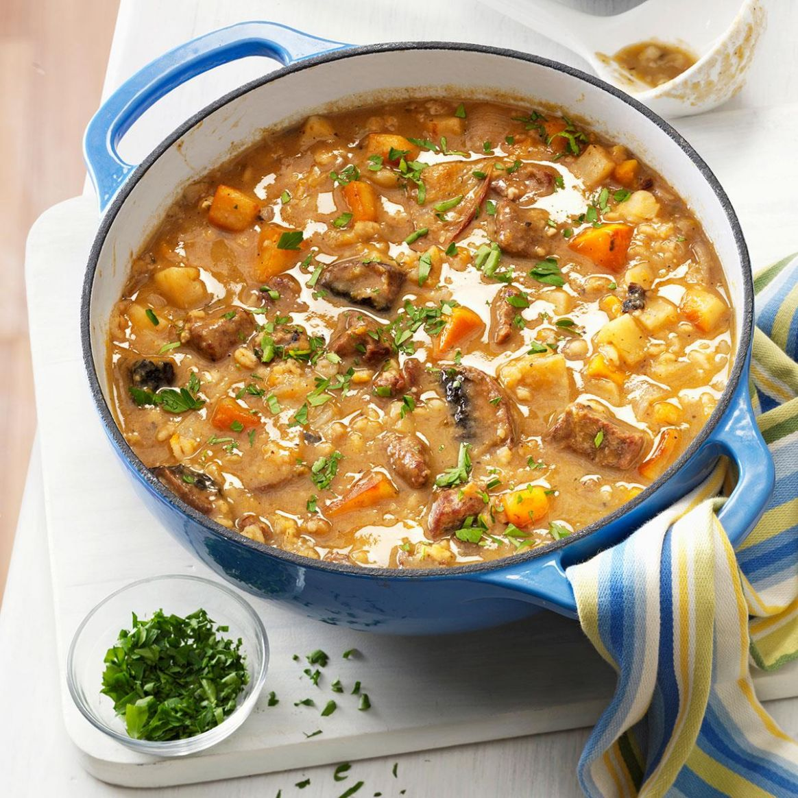 Beef Barley Soup with Roasted Vegetables - Recipes Beef Barley Soup