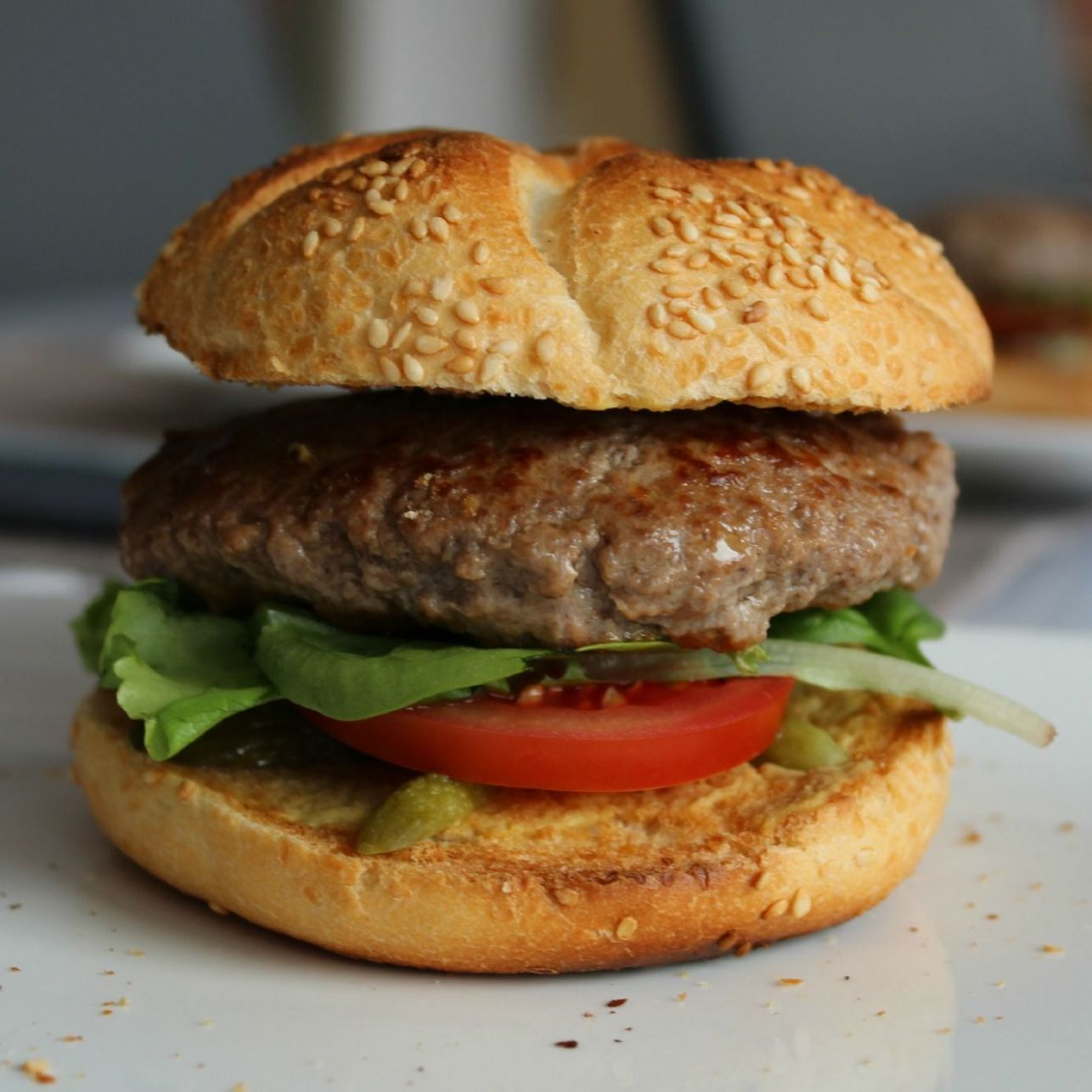 Beef burger recipe - All recipes UK - Recipes Beef Burgers