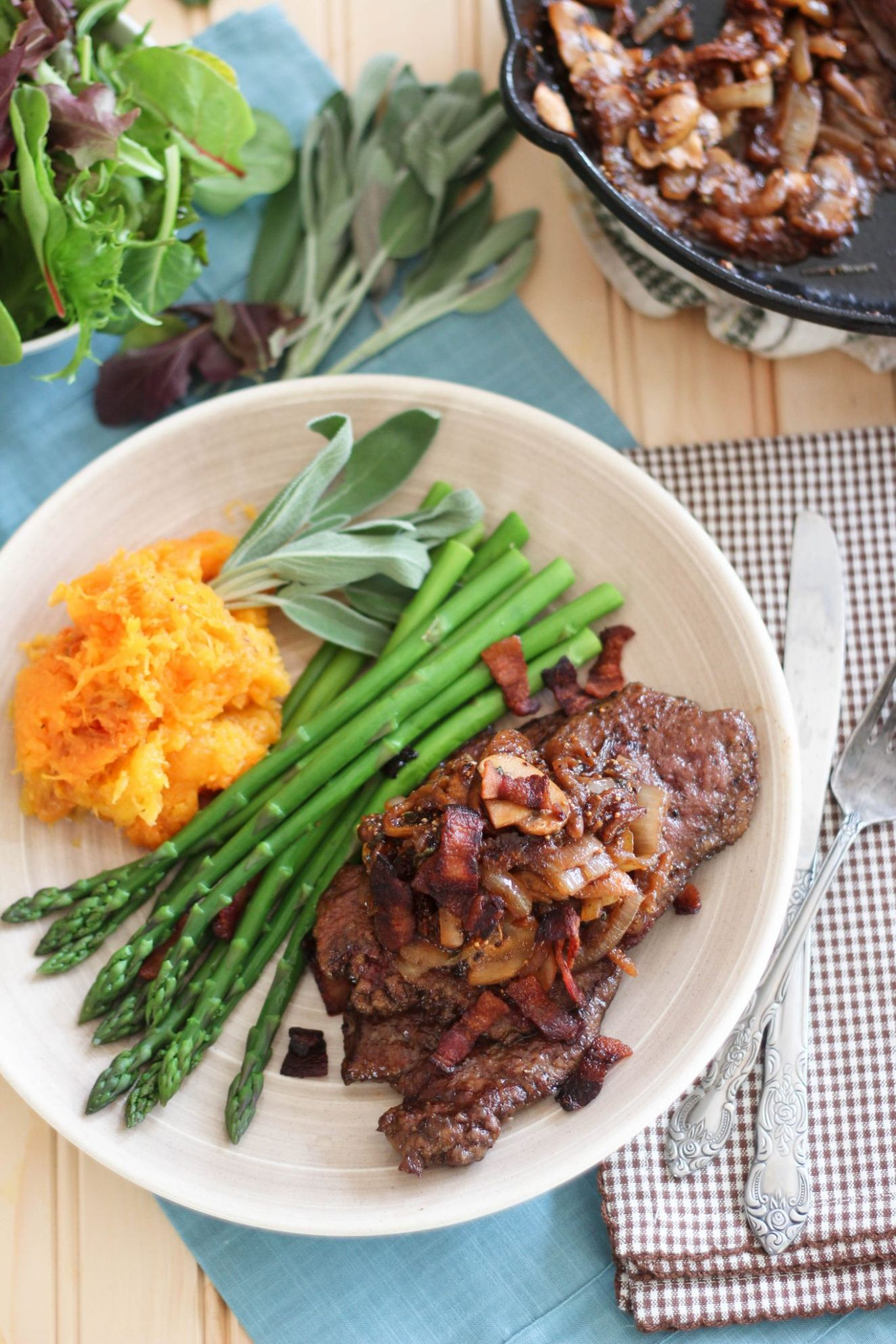 Beef Liver with Fig, Bacon and Caramelized Onion Compote - Healthy Recipes Meat