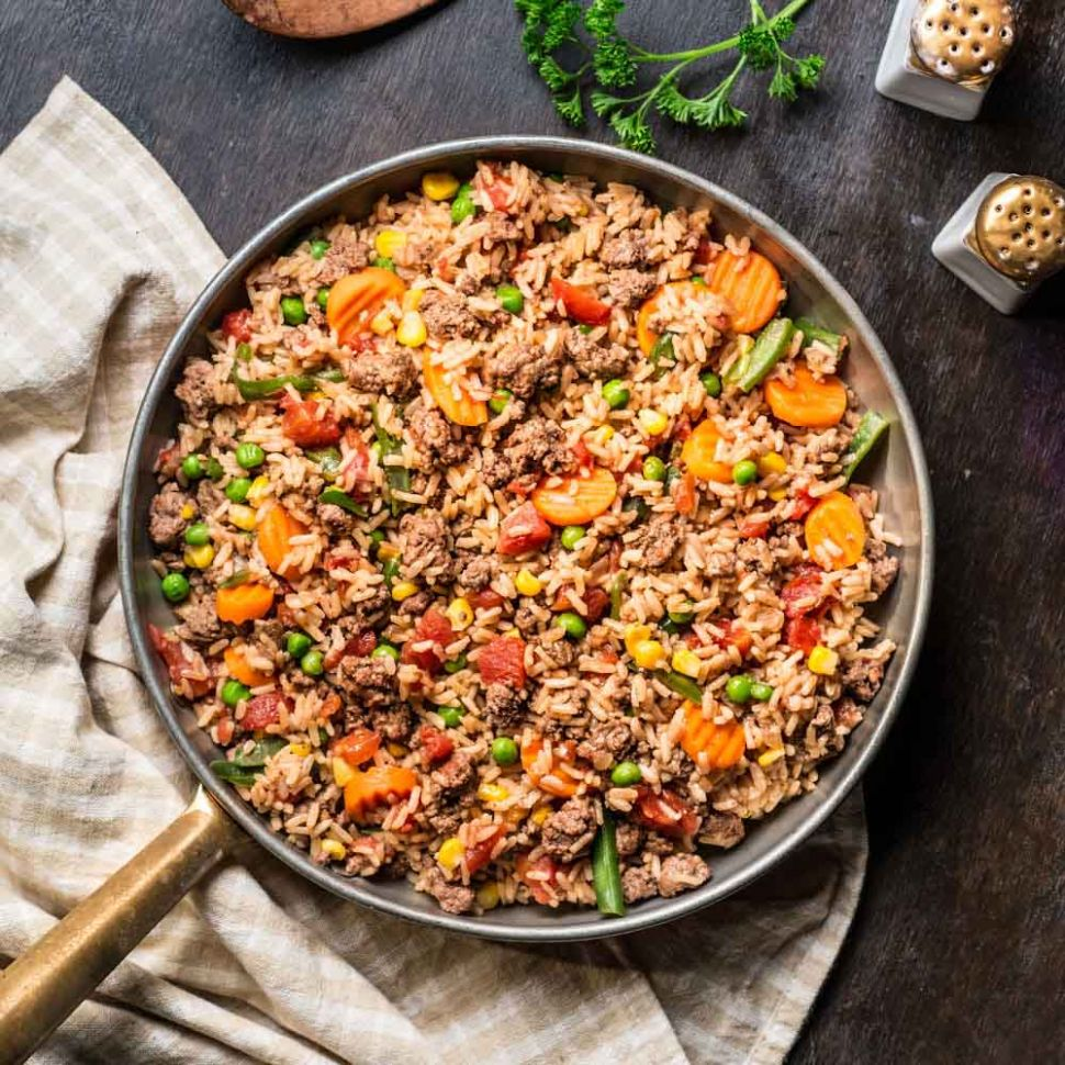 Beefy Rice Skillet - Recipes Rice Ground Beef
