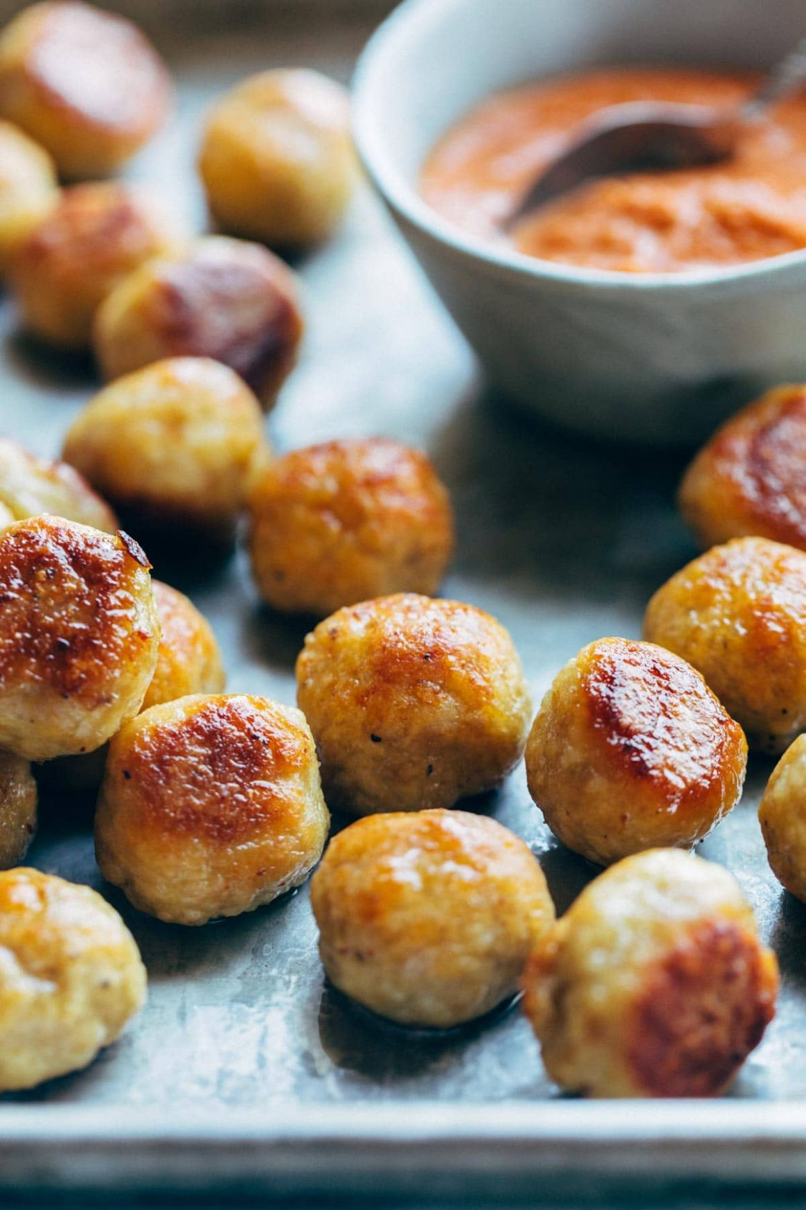 Best Anytime Baked Chicken Meatballs Recipe - Pinch of Yum - Easy Recipes Ground Chicken