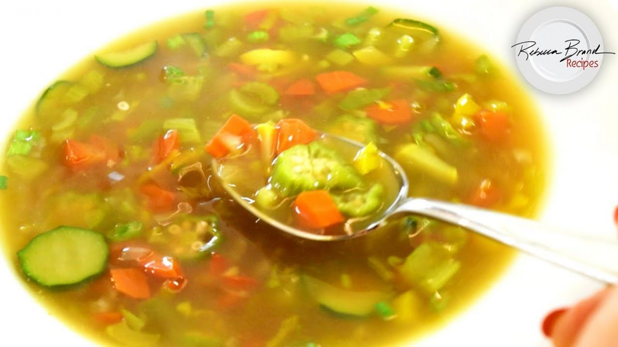 BEST Clear Vegetable Soup Recipe with Bone Broth in 9 Minutes - Soup Recipes Using Bone Broth