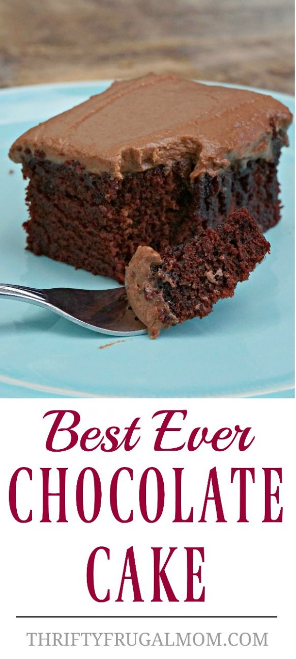 Best Ever Chocolate Cake (no eggs, no butter) - Dessert Recipes No Butter