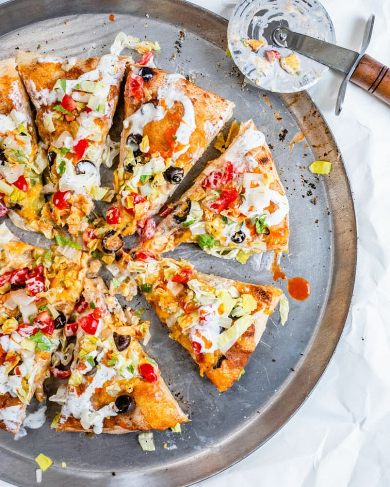 Best Ever Taco Pizza - Recipes Mexican Pizza