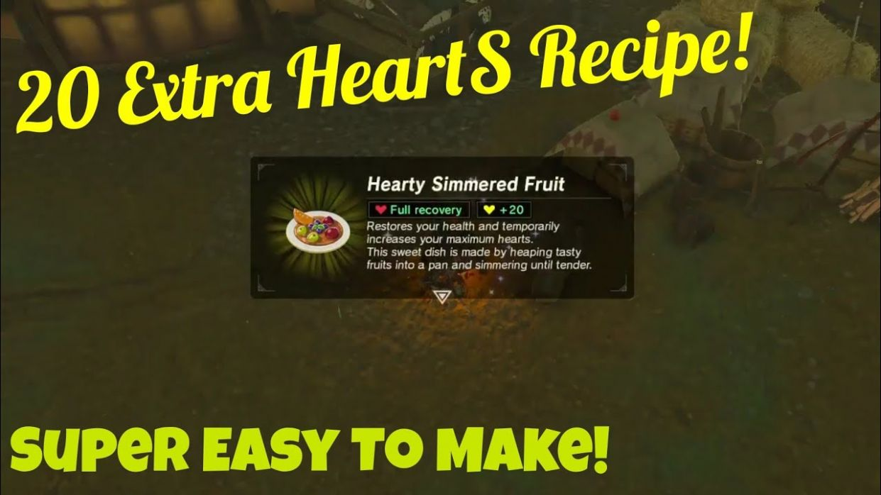 Best Heart Recipe To Cook Before Boss (12 Extra Hearts) | Legend Of Zelda :  Breath Of The Wild - Easy Recipes Botw