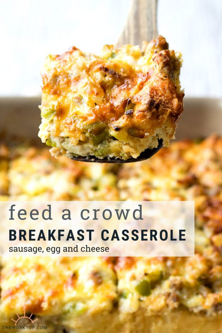 Best Sausage and Egg Breakfast Casserole (make ahead recipe) | The ...