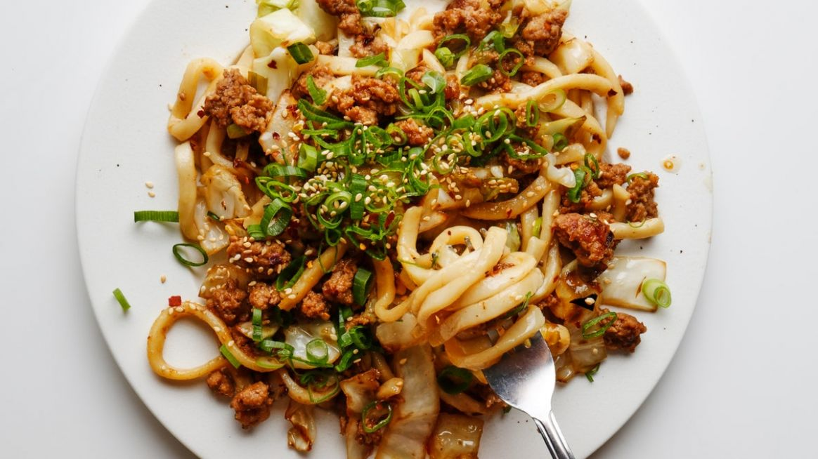 Better-than-Takeout Stir-Fried Udon - Recipe Pork Udon