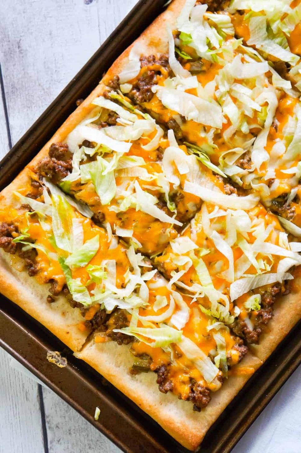 Big Mac Pizza - This is Not Diet Food - Recipes With Pizza Dough And Ground Beef