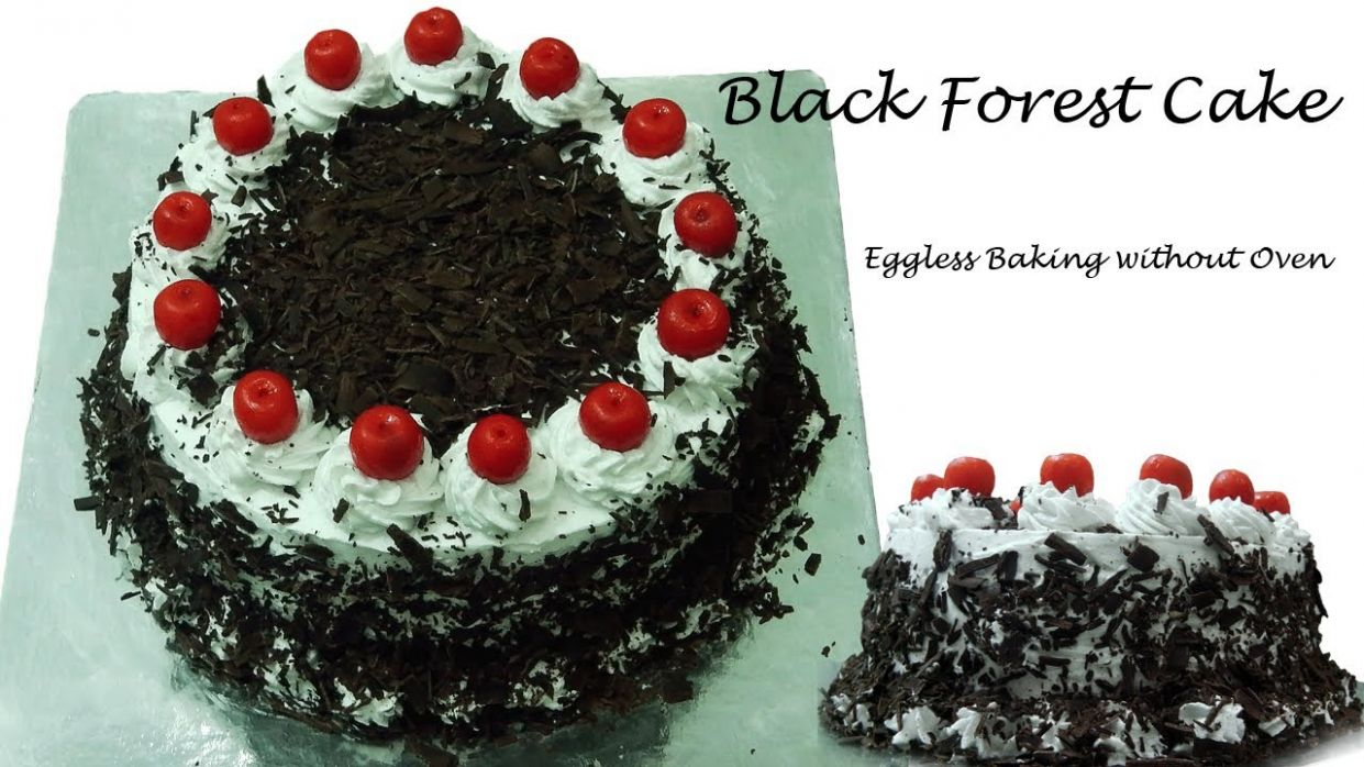 Black Forest Cake Recipe Without Oven - Cooker Cake | Eggless Baking  without Oven - Cake Recipes Video In Hindi