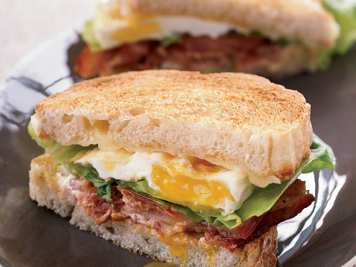 BLT Fried Egg-and-Cheese Sandwich - Recipe Egg Over Easy