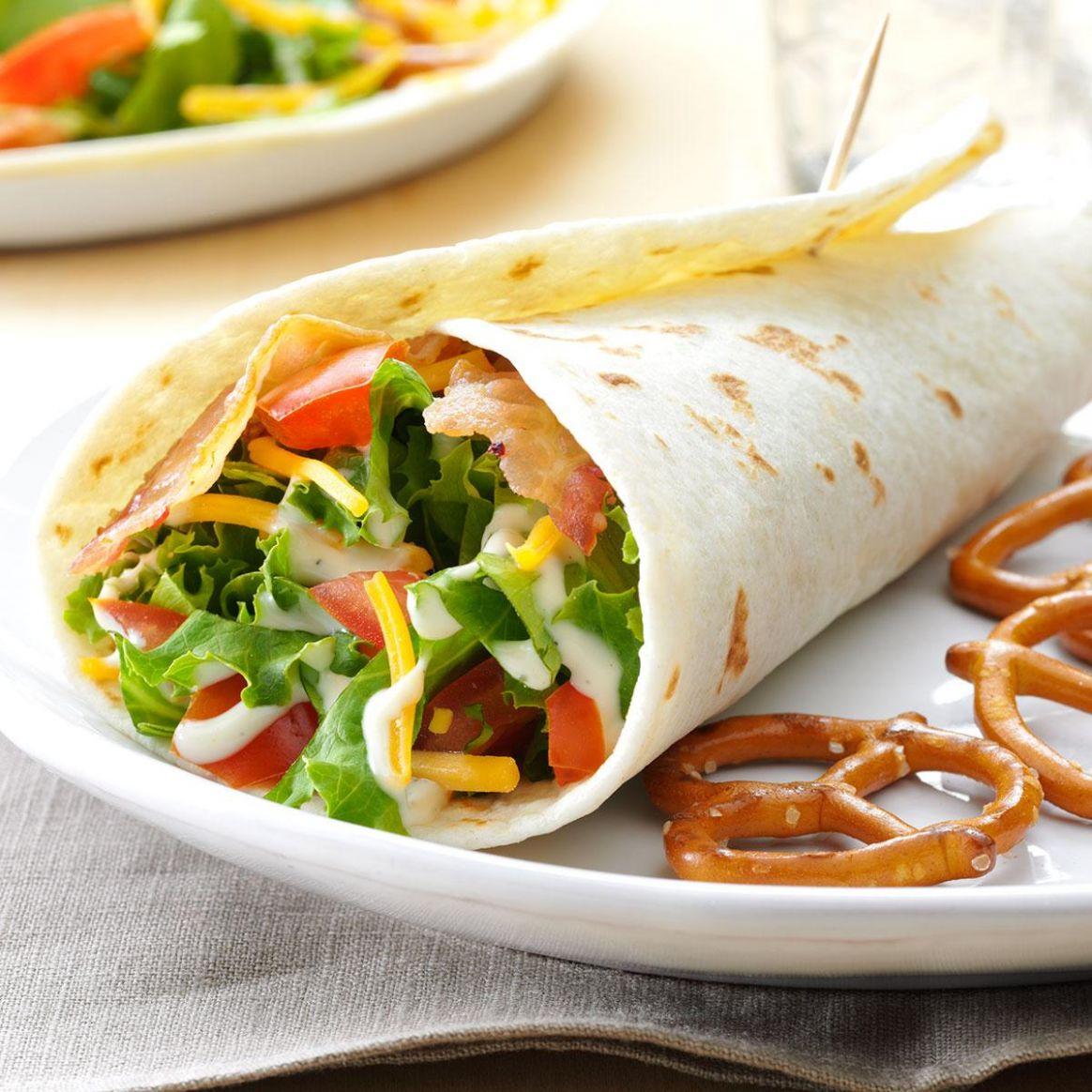 BLT Wraps - Recipes Sandwich Wraps